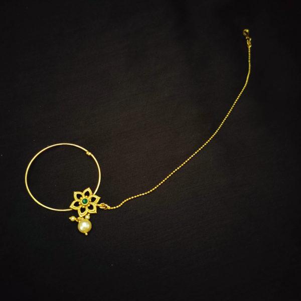 Kundan Stone Green Bridal Jewellery - BRIDAL122