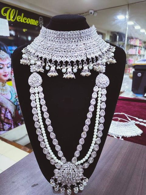 Silver Bridal Jewellery Set - SBRIDAL113