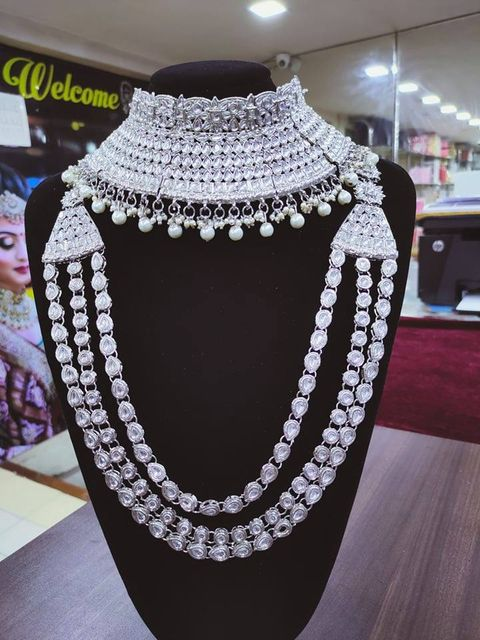 Silver Bridal Jewellery Set - SBRIDAL112
