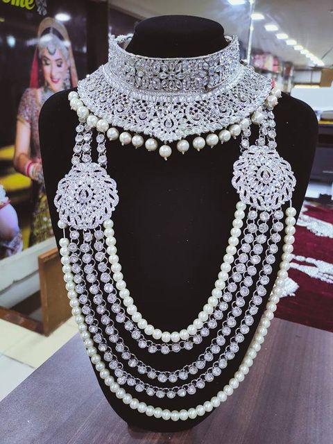 Silver Bridal Jewellery Set - SBRIDAL111