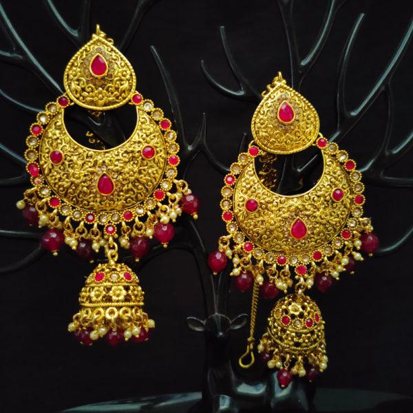Ruby Pink Bridal Jewellery - BRIDAL134