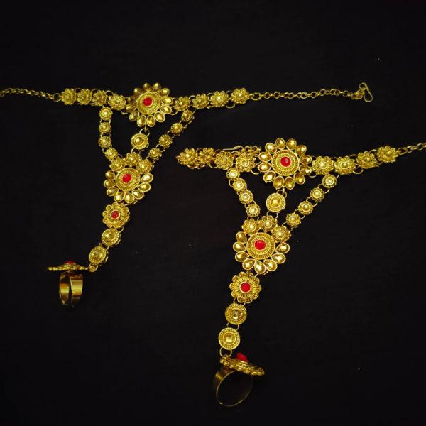 Kundan Stone Red Bridal Jewellery - BRIDAL131