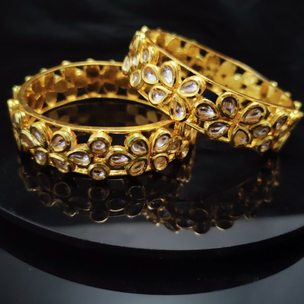 Antique Gold Bangles - AGB104