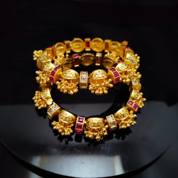Antique Gold Bangles - AGB112