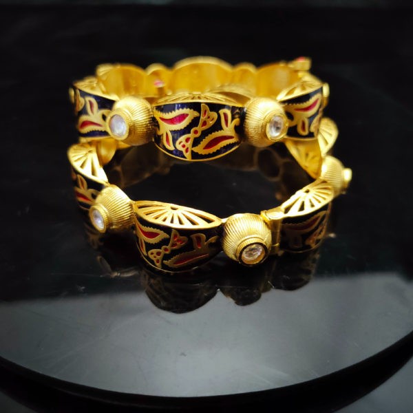 Antique Gold Bangles - AGB109