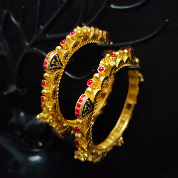 Antique Gold Bangles - AGB107