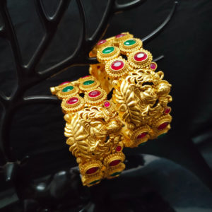 Antique Gold Bangles - AGB108