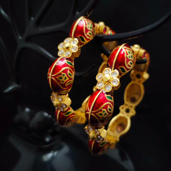 Antique Gold Bangles - AGB106
