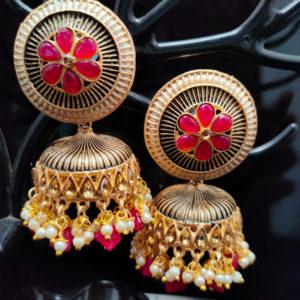 Rani Pink Jhumka Earrings JMKE1041